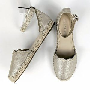 Marc Fisher Marquis Studded Metallic Espadrilles